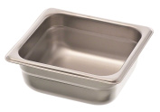 Browne Foodservice 22162 22-Gauge Stainless Steel Stack-A-Way Anti-Jam Steam Table Pan, 1/6 Size, 1.1l