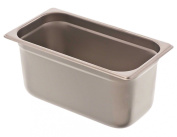 Browne Foodservice 88136 24-Gauge Stainless Steel Stack-A-Way Anti-Jam Steam Table Pan, 1/3 Size, 6.1l