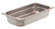 Browne Foodservice 22132 22-Gauge Stainless Steel Stack-A-Way Anti-Jam Steam Table Pan, 1/3 Size, 2.5l