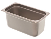 Browne Foodservice 22136 22-Gauge Stainless Steel Stack-A-Way Anti-Jam Steam Table Pan, 1/3 Size, 6.1l