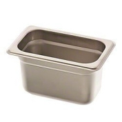 Browne Foodservice 22194 22-Gauge Stainless Steel Stack-A-Way Anti-Jam Steam Table Pan, 1/9 Size, 1l