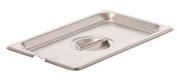 Browne Foodservice CP8142NC Stainless Steel Steam Table Pan Notched Cover, Quarter