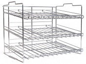 DecoBros Supreme Stackable Can Rack Organiser, Chrome Finish