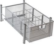 DecoBros Mesh Cabinet Sliding Basket Drawer Organiser, Silver