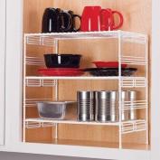 Grayline 40916, Large Adjustable Upper Cabinet Helper Shelf, White