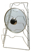 Wall Mounted Heavy Duty Wire Lids Rack - Chrome Finished