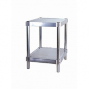 PVIFS N242430-2 Equipment Stand with 2 Adjustable Solid Shelves, 180kg Shelf Capacity, 80cm Length x 60cm Width x 60cm Height