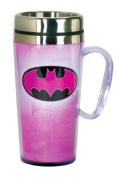 DC Comics Batman Pink Insulated Travel Mug, Pink