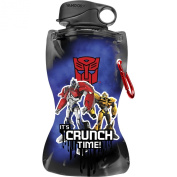Vandor 41010 Transformers Collapsible Water Bottle, 350ml, Multicoloured