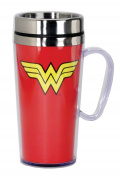 DC Comics Wonder Woman Insulated Travel Mug, Red