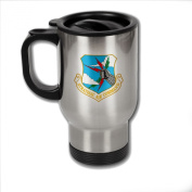 Stainless Steel Coffee Mug with U.S. Strategic Air Command obsolete emblem