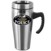 Siskiyou Gifts Police Steel Travel Mug with Handle