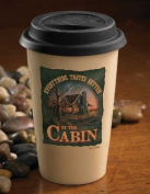 Everything Better At Cabin 350ml Travel Cup by Terry Redlin