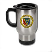 Stainless Steel Coffee Mug with U.S. Navy USS Peleliu (LHA-5) emblem