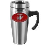 Siskiyou Gifts Marines Steel Travel Mug with Handle