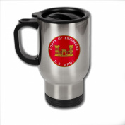 Stainless Steel Coffee Mug with U.S. Army Corps of Engineers branch plaque