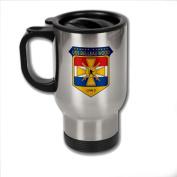 Stainless Steel Coffee Mug with U.S. Navy USS Belleau Wood (LHA-3 «Devil Dog») emblem