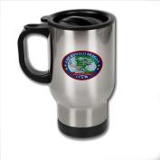 Stainless Steel Coffee Mug with U.S. Navy USS Ronald Reagan (CVN-76) emblem