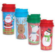 Stocking Stuffers - Kids' Christmas Travel Mugs, 330ml