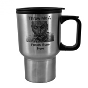 410ml Throw Me A Frickin' Bone Here - Dr.Evil. Stainless Steel Travel Mug W/Handle L1 Great For Austin Powers Fans!