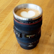 Travel Coffee Mug Tea Cup 24-105mm Thermos Outdoor Sports Drinking Lid Camera Lens Gift