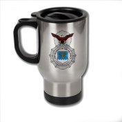 Stainless Steel Coffee Mug with U.S. Air Force Security Forces (AFSC) badge