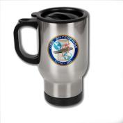 Stainless Steel Coffee Mug with U.S. Navy USS Enterprise (CVN-65) emblem