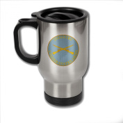 Stainless Steel Coffee Mug with U.S. Army Infantry branch plaque