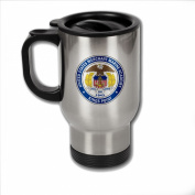 Stainless Steel Coffee Mug with U.S. Merchant Marine Academy (USMMA) seal