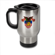 Stainless Steel Coffee Mug with U.S. Military Academy (USMA) coat of arms