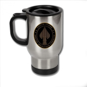 Stainless Steel Coffee Mug with U.S. Special Operations Command (SOCOM) emblem