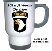 101ST AIRBORNE DIVISION - US Army White Stainless Steel Mug