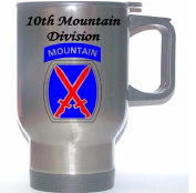 10TH MOUNTAIN DIVISION - US Army Stainless Steel Mug