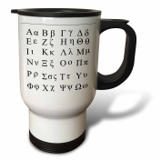 Florene Decorative - Greek Alphabet - Travel Mug