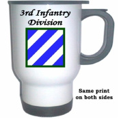 3RD INFANTRY DIVISION - US Army White Stainless Steel Mug