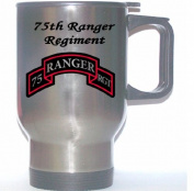 75TH RANGER REGIMENT - US Army Stainless Steel Mug