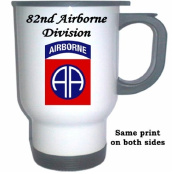 82ND AIRBORNE DIVISION - US Army White Stainless Steel Mug