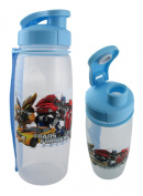 Baby Blue Transformers Waterbottle with Shoulder Strap - Transformers Bottle with Straw