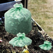 ** EcoSafe6400 Compostable Compost Bags, .85mil, 42 x 48, Green, 40/Box **