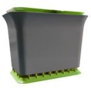 Full Circle Natural Fresh Air Odour-Free Kitchen Compost Collector 4.9l, Green Slate