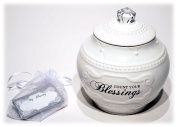 Young's Ceramic Blessing Jar with 36 Blessings, 17cm