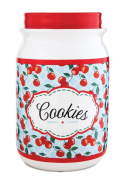Pavilion Gift Company 49040 You and Me by Jessie Steele Ceramic Cookie Jar, 23cm , Kitchen Cherries