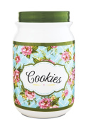 Pavilion Gift Company 49038 You and Me by Jessie Steele Ceramic Cookie Jar, 23cm , Cottage Kitchen Rose
