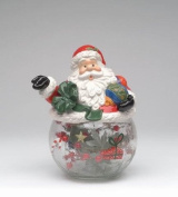 Cosmos Gifts CS48421 Santa Cookie/Candy Jar with Ceramic Jar, 24cm