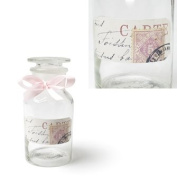 Pink Stamp 14cm High Decorated Small Apothecary Jar