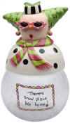 Appletree Design 62672 Snow Mama Cookie Jar with Seasonal Design, Ceramic/Glass, 7-1/2 by 28cm by 15cm