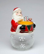 Cosmos Gifts 10456 Santa Drum Cookie/Candy Jar with Ceramic Jar, 27cm