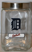 Detroit Tigers MLB Logo Glass Jar Canister