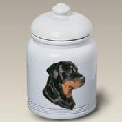 Rottweiler - Linda Picken Treat Jar