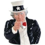 Westland Giftware Ceramic Cookie Jar, Uncle Sam, 29cm